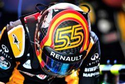 Foto Poster Carlos Sainz tijdens de GP van Mexico, F1 Renault Team 2017