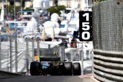 Foto Poster Valtteri Bottas tijdens de GP van Monaco, F1 Mercedes Team 2017