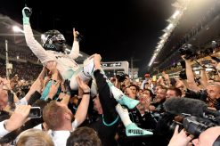Foto Poster Nico Rosberg kampioen, F1 Mercedes Team 2016