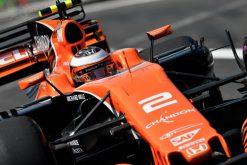 Foto Poster Stoffel Vandoorne tijdens de GP van Mexico, F1 McLaren Team 2017