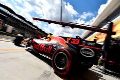 F1 Foto Poster van Max Verstappen tijdens de GP van Hongarije, Red Bull Racing 2017