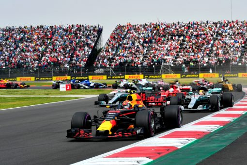 F1 Foto Poster van Max Verstappen tijdens de GP van Mexico, Red Bull Racing 2017