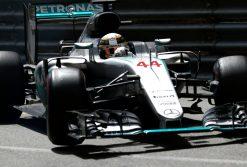 Foto Poster Lewis Hamilton tijdens de GP van Monaco, F1 Mercedes Team 2016