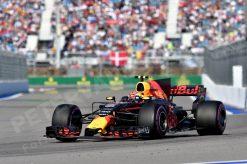 F1 Foto Poster van Max Verstappen tijdens de GP van Rusland, Red Bull Racing 2017