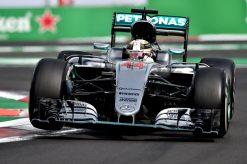 Foto Poster Lewis Hamilton tijdens de GP van Mexico, F1 Mercedes Team 2016