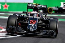 Foto Poster Jenson Button tijdens de GP van Mexico, F1 McLaren Team 2016