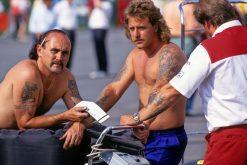 Williams monteurs tijdens de GP van Duitsland 1994