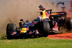 Foto Poster David Coulthard tijdens de GP van Australie, F1 Red Bull Racing Team 2008