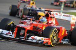 Foto Poster Fernando Alonso in actie tijdens de F1 GP Abu Dhabi 2012