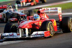 Foto Poster Fernando Alonso in actie tijdens de F1 GP Abu Dhabi 2011