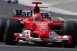 F1 Poster Michael Schumacher in actie, Ferrari 2004
