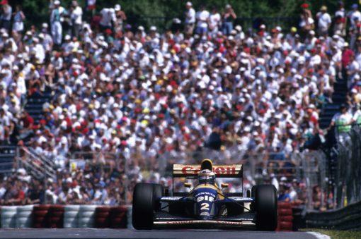 Alain Prost 1993 actie foto GP Canada