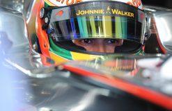 Foto Poster Lewis Hamilton tijdens de GP van Australie, F1 McLaren Team 2011