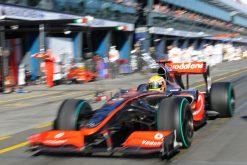 Foto Poster Lewis Hamilton tijdens de GP van Australie, F1 McLaren Team 2009
