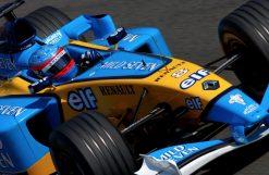 Foto Poster Fernando Alonso in actie 2003