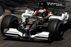 Foto Poster Jos Verstappen tijdens de GP van Monaco, F1 Minardi Team 2003
