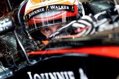 Foto Poster Jenson Button tijdens de GP van Belgie, F1 McLaren Team 2015