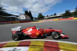 Foto Poster Fernando Alonso in actie tijdens de F1 GP Belgie 2012