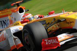 Foto Poster Fernando Alonso in Actie tijdens de F1 Grand Prix Belgie 2009