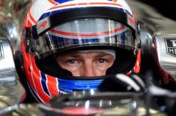 Foto Poster Jenson Button tijdens de GP van Bahrein, F1 McLaren Team 2014