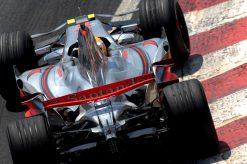 Foto Poster Lewis Hamilton tijdens de GP van Brazilie, F1 McLaren Team 2007