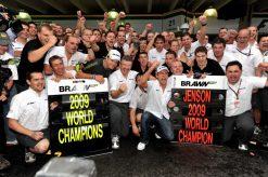 Foto Poster Jenson Button Kampioen tijdens de GP van Brazilie, F1 Brawn GP Team 2009