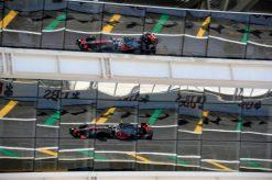 Foto Poster Lewis Hamilton tijdens de GP van Brazilie, F1 McLaren Team 2012