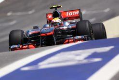 Foto Poster Lewis Hamilton tijdens de GP van Brazilie, F1 McLaren Team 2010