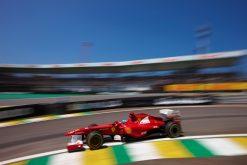Foto Poster Fernando Alonso in actie tijdens de F1 GP Brazilie 2011