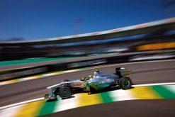 Foto Poster Nico Rosberg in Actie, F1 Mercedes Team 2011
