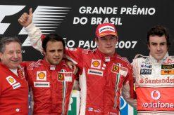 Kimi Raikkonen Kampioen - Ferrari bij de Grand Prix van Brazilie 2007