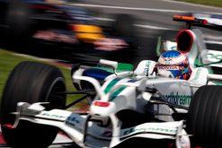 Foto Poster Jenson Button tijdens de GP van Canada, F1 Honda Racing Team 2008