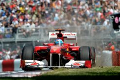 Foto Poster Fernando Alonso in actie tijdens de F1 GP Canada 2011