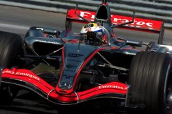 Foto Poster Juan Pablo Montoya in actie, F1 McLaren Team 2006