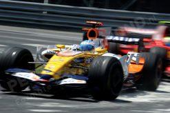 Foto Poster Fernando Alonso in Actie tijdens de F1 Grand Prix Canada 2008