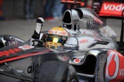 Foto Poster Lewis Hamilton tijdens de GP van China, F1 McLaren Team 2011