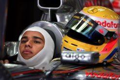 Foto Poster Lewis Hamilton tijdens de GP van China, F1 McLaren Team 2007