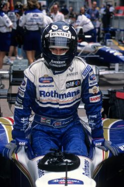 Foto Poster Damon Hill tijdens de GP van Monaco, F1 Williams Team 1996
