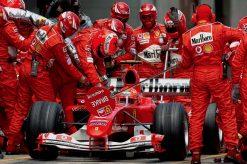 F1 Poster Michael Schumacher tijdens een Pitstop, Ferrari 2004