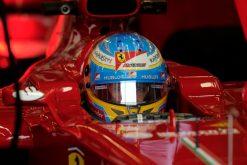 Foto Poster Fernando Alonso Helm-shot tijdens de F1 GP Engeland 2013
