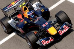 Foto Poster Robert Doornbos tijdens de GP van Spanje, F1 Red Bull Racing Team 2006