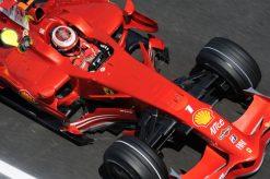 Kimi Raikkonen - Ferrari tijdens de Grand Prix van Spanje 2008
