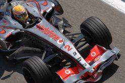 Foto Poster Lewis Hamilton tijdens de GP van Spanje, F1 McLaren Team 2007