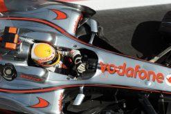 Foto Poster Lewis Hamilton tijdens de GP van Spanje, F1 McLaren Team 2008