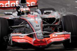Foto Poster Fernando Alonso in Actie tijdens de F1 Grand Prix Europa 2007