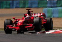 Kimi Raikkonen - Ferrari tijdens de Grand Prix van Frankrijk 2008