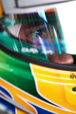 Foto Poster Lewis Hamilton tijdens de GP van Duitsland, F1 Mercedes Team 2013
