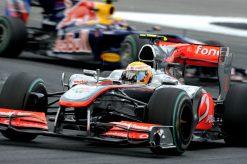 Foto Poster Lewis Hamilton tijdens de GP van Duitsland, F1 McLaren Team 2010