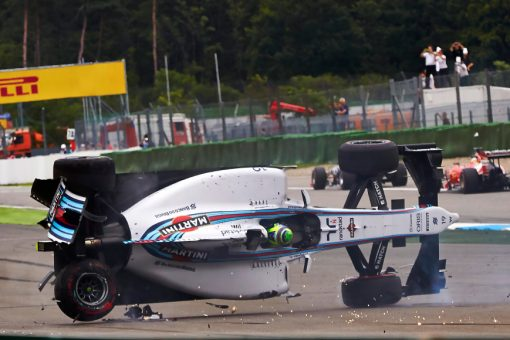 Foto Poster Felipe Massa Crash tijdens de GP van Duitsland, F1 Williams Team 2014