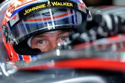 Foto Poster Jenson Button tijdens de GP van Duitsland, F1 McLaren Team 2012